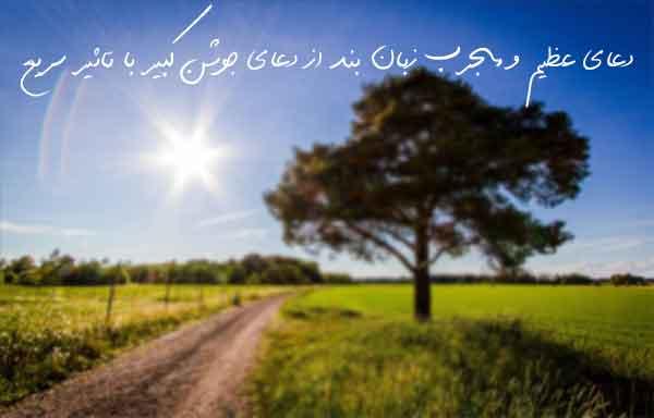 دعای عظیم و مجرب زبان بند از دعای جوشن کبیر با تاثیر سریع