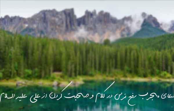 دعای مجرب رفع ترس در کلام و صحبت کردن از علی علیه السلام