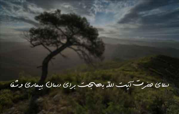 دعای حضرت آیت الله بهجت برای درمان بیماری و شفا