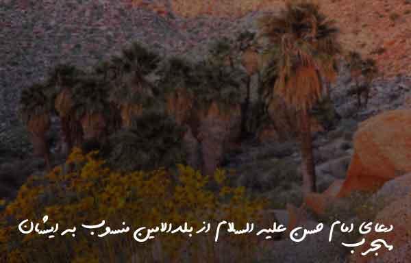 دعای امام حسن علیه السلام از بلدالامین منسوب به ایشان مجرب