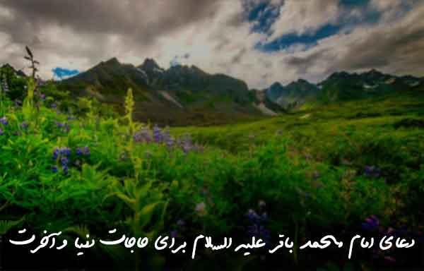 دعای امام محمد باقر علیه السلام برای حاجات دنیا و آخرت