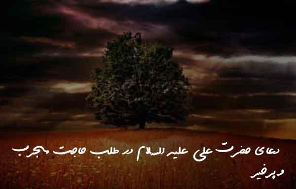 دعای حضرت علی علیه السلام در طلب حاجت مجرب و پرخیر