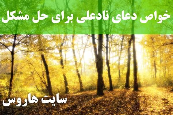 خواص دعای نادعلی برای حل مشکل و رفع گرفتاری و حاجت روایی